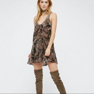 NWOT Free People Ellie Burnout Velvet Dress Medium